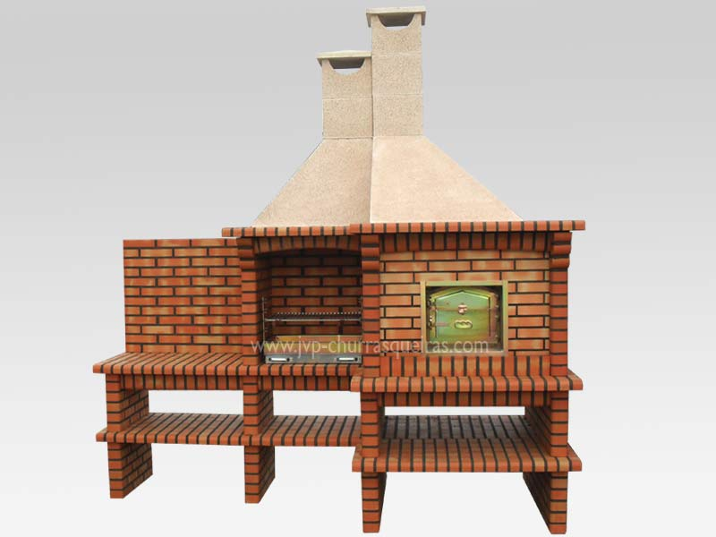 BBQ Grill 109, BBQ with Oven, Manufacture Garden Brick Barbecue Grill, BBQ in refractory bricks, Brick barbecues Grill, BBQ, churrasqueiras, Outdoor Barbecue Grill, charcoal barbecue grill, outdoor barbecue grills, charcoal grill, Barbecue and Pizza Oven, Barbecue Grill, Churrasqueiras, bbq with bricks