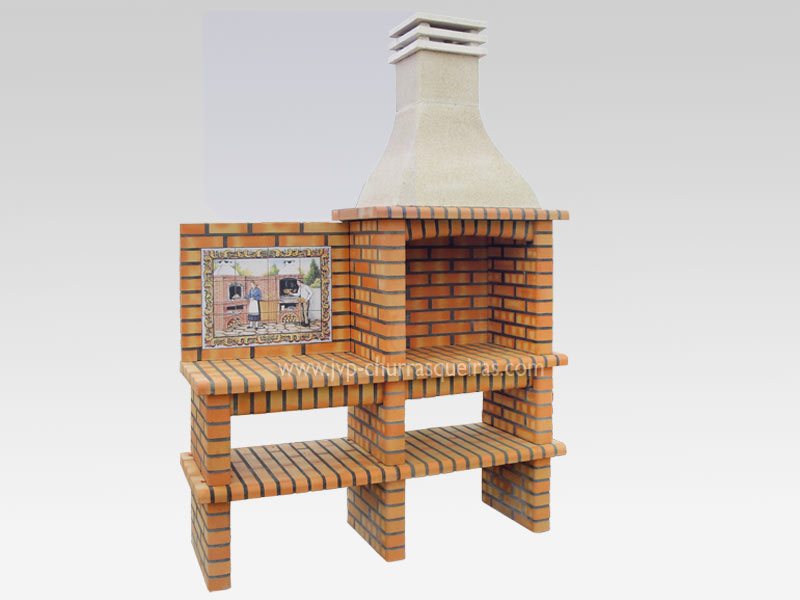 BBQ Grill 206-A, Manufacture Barbecue Grill, BBQ in refractory bricks, Brick barbecues Grill, Outdoor Barbecue Grill, Brick barbecue grill, Garden barbecue grills, charcoal grill, Barbecue Grill, Churrasqueiras, bbq with bricks, Barbecue and Pizza Oven