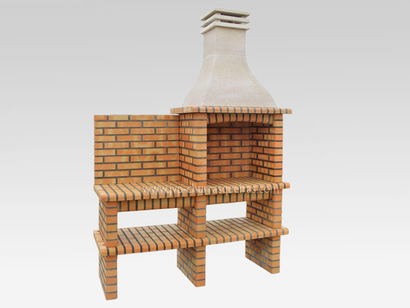 BBQ Grill 206-T, Manufacture Barbecue Grill, BBQ in refractory bricks, Brick barbecues Grill, Outdoor Barbecue Grill, Brick barbecue grill, Garden barbecue grills, charcoal grill, Barbecue Grill, Churrasqueiras, bbq with bricks, Barbecue and Pizza Oven