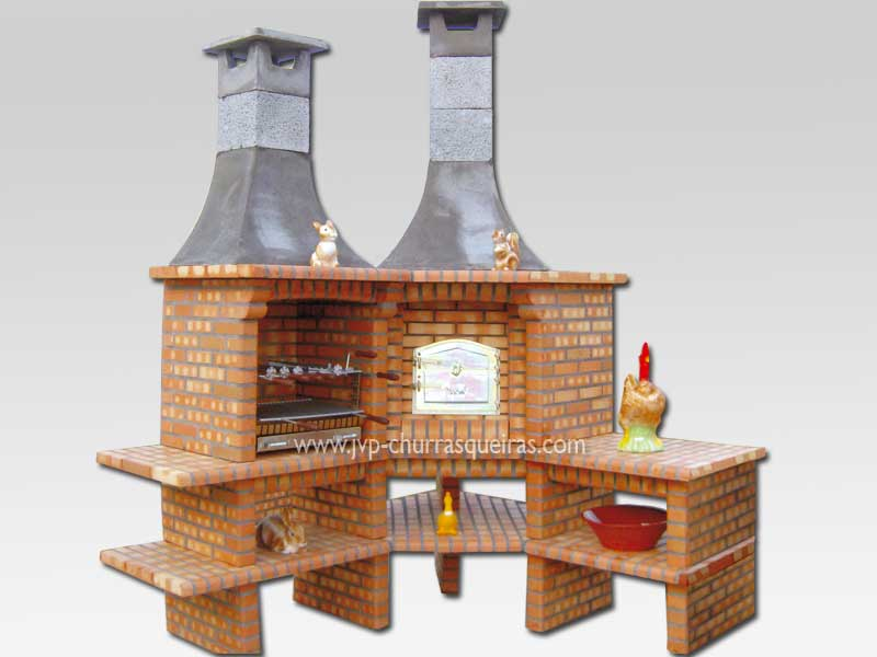 Brick Barbecue 26, Manufacture Garden Brick Barbecue Grill, BBQ in refractory bricks, Brick barbecues Grill, BBQ nice price, Cheap BBQ