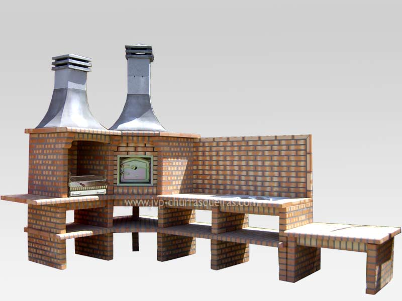 Brick Barbecue 66, BBQ with Oven, Manufacture Garden Brick Barbecue Grill - BBQ in refractory bricks, Brick barbecues Grill, BBQ, churrasqueiras, Outdoor Barbecue Grill, charcoal barbecue grill, outdoor barbecue grills, charcoal grill, Barbecue and Pizza Oven, Barbecue Grill, Churrasqueiras, bbq with bricks