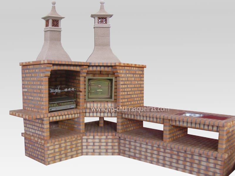 Brick Barbecue 85, BBQ with Oven, Manufacture Garden Brick Barbecue Grill, BBQ in refractory bricks, Brick barbecues Grill, BBQ, churrasqueiras, Outdoor Barbecue Grill, charcoal barbecue grill, outdoor barbecue grills, charcoal grill, Barbecue and Pizza Oven, Barbecue Grill, Churrasqueiras, bbq with bricks
