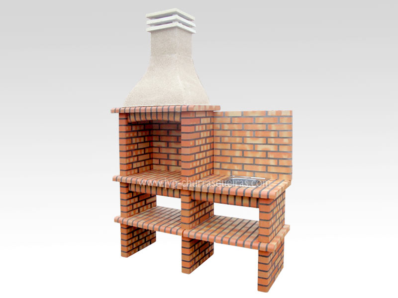 BBQ Grill 208-T, Manufacture Barbecue Grill, BBQ in refractory bricks, Brick barbecues Grill, Outdoor Barbecue Grill, Brick barbecue grill, Garden barbecue grills, charcoal grill, Barbecue Grill, Churrasqueiras, bbq with bricks
