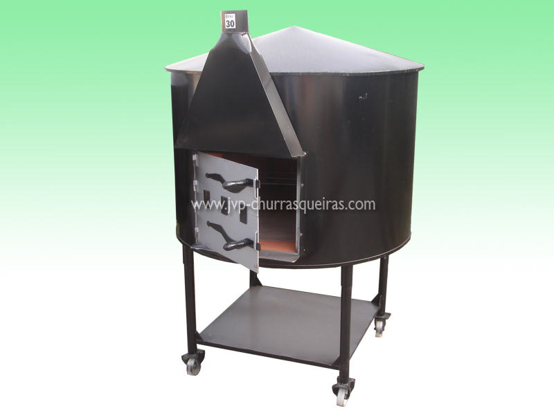 Oven 29, mobile furnaces, Clay and Metal, with chimney, Manufacture Garden Brick Barbecue Grill, Brick ovens, manufacturers, ovens manufacturer