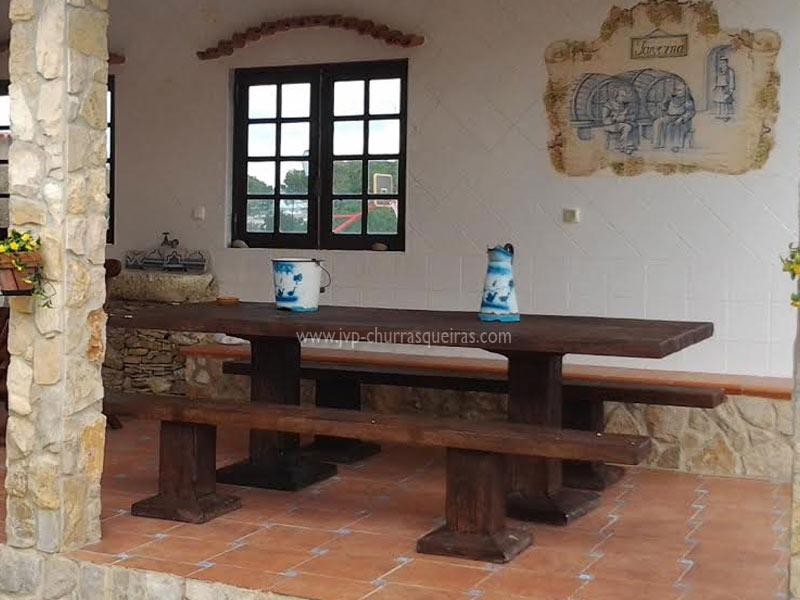 Mesas de Jardim, Mesa 104, Mesas, merendas, bancos, Mesas de betão imitar madeira, mesas para parques de merendas, mesas em tijolos, mesas cimento, jardim